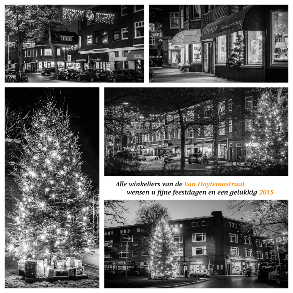 Kerstkaart winkelgebied Van Hoytemastraat