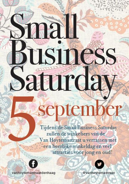 Small Business Saturday winkelgebied Van Hoytemastraat