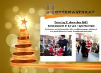 Uitnodiging kerstproeverij winkelgebied Van Hoytemastraat Benoordenhout
