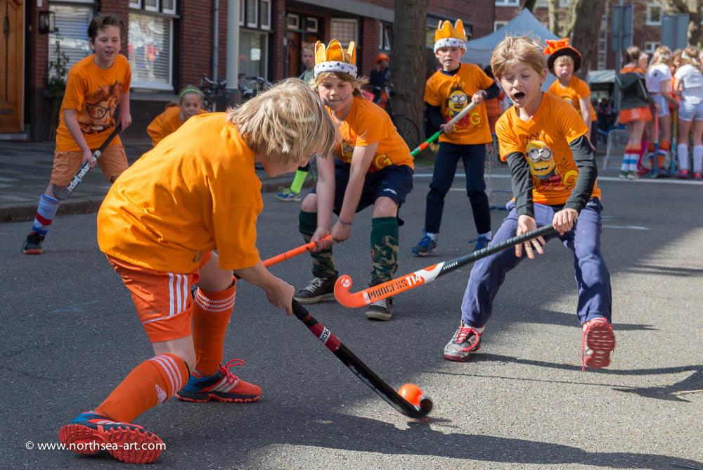 Hockeytoernooi winkelgebied Van Hoytemastraat