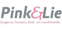 Pink en Lie Logo lingerie, kousen, bad- en nachtmode