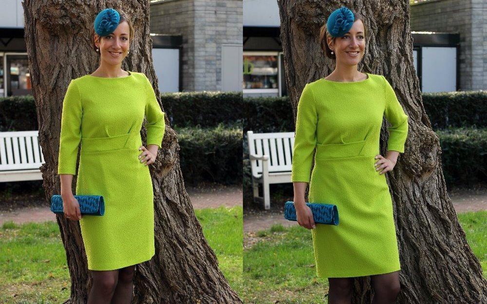 groene jurk Jaap Rijnbende winkelgebied Van Hoytemastraat